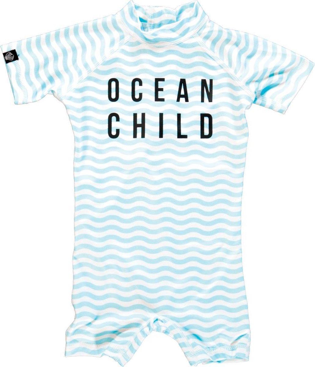 Beach & Bandits UV pakje Baby Ocean Child shorty - Wit-blauw