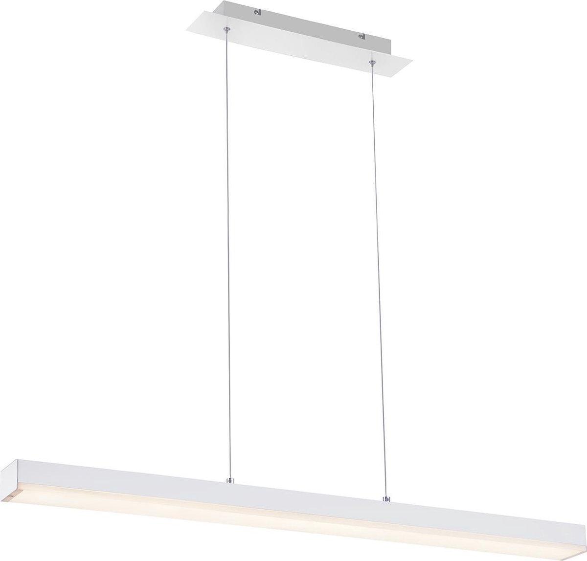 LED Hanglamp WiZ - Smart LED - Hangverlichting - Iona Lavar - 20W - Aanpasbare Kleur - RGBW - Rechthoek - Mat Wit - Aluminium