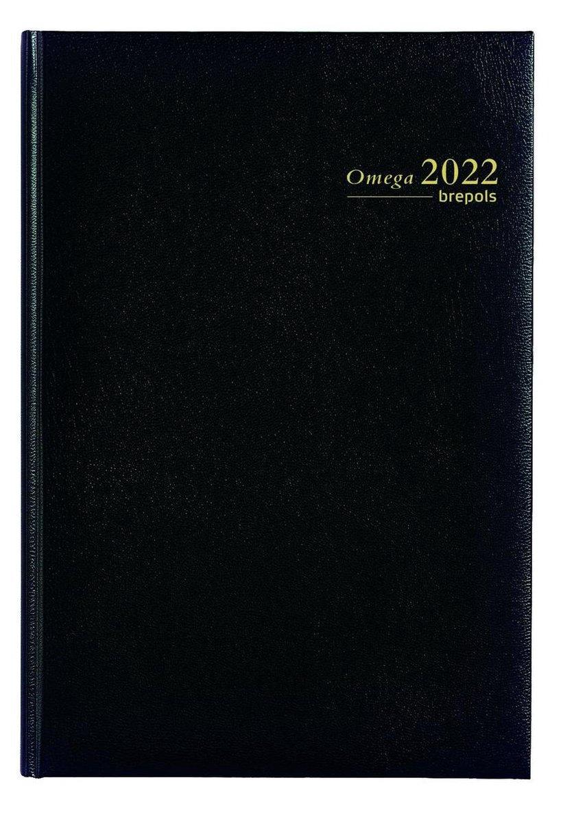 Brepols Agenda 2022 - Omega - Lima - 21 x 29 cm - Zwart