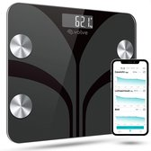 e.volve® Slimme Weegschaal - 13x Lichaamsanalyse o.a. Vetpercentage - Digitale Personenweegschaal met App