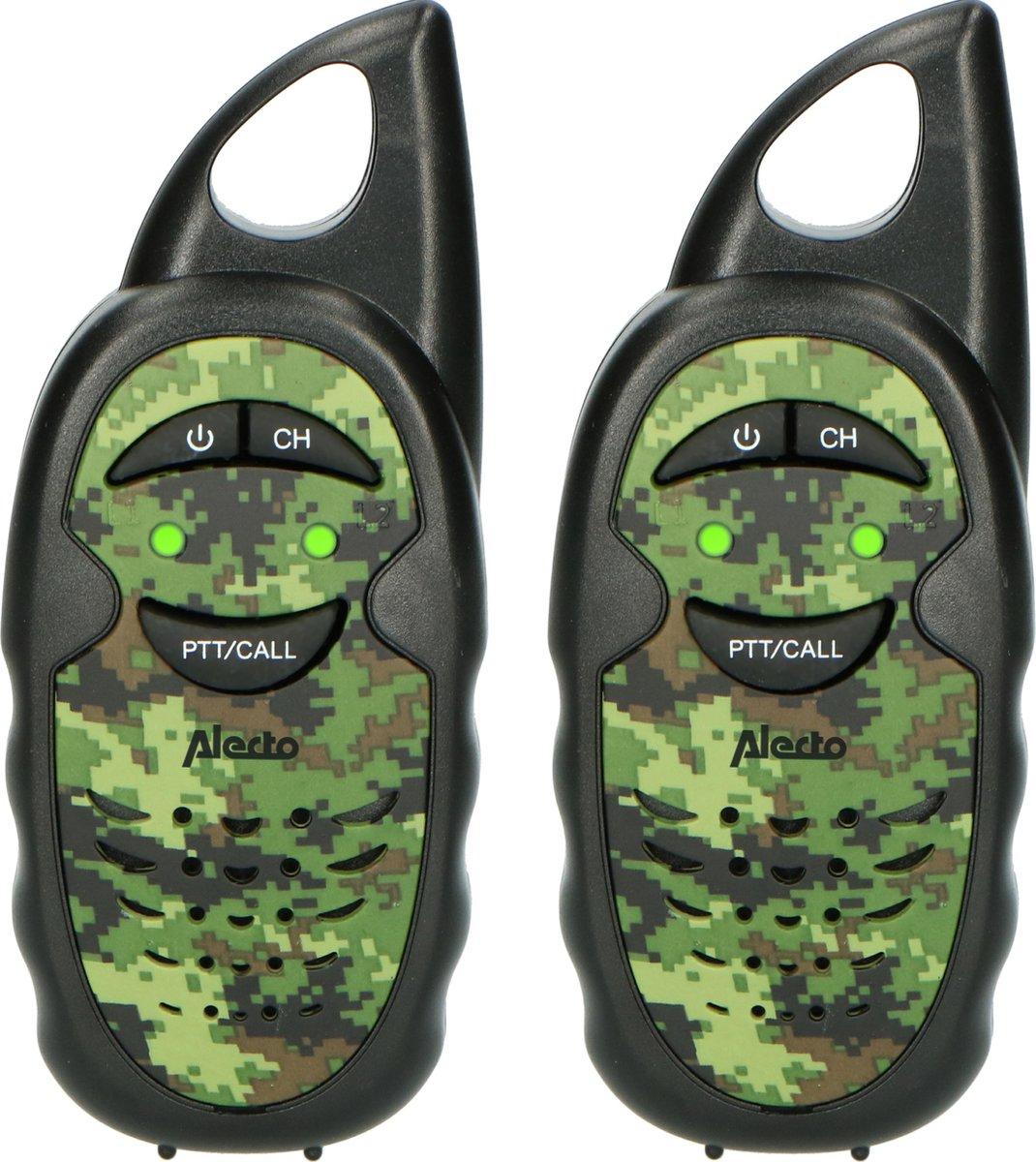 Alecto FR05CAMO - Set van twee walkie talkies voor kinderen - tot 3 kilometer bereik, camouflage