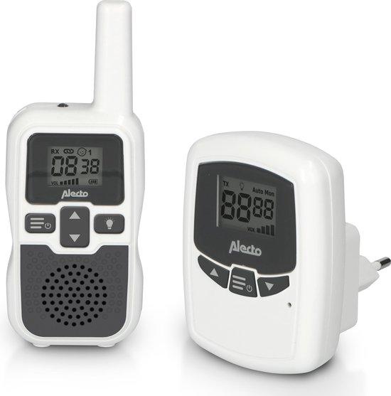 Alecto DBX-80 - Babyfoon met groot bereik tot 3000 meter - wit/antraciet