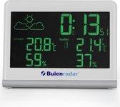 Bol.com-Buienrader BR-600 Buienradar weerstation - Meet binnen-en buitentemperatuur met radio gestuurde klok-aanbieding