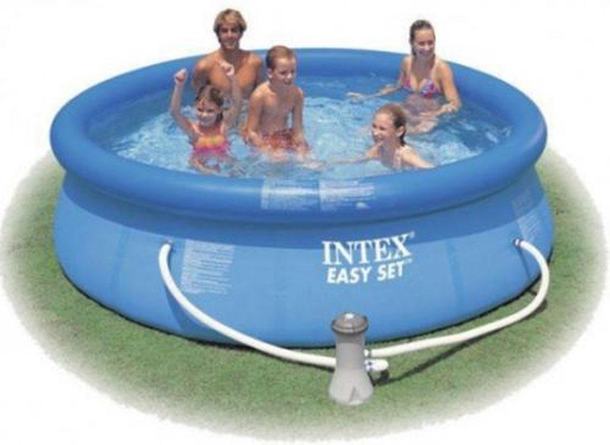 Intex Zwembad inclusief pomp - Easy set pool - 305 x 76 cm met waterpomp 12 V- Blauw