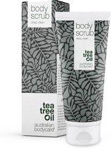 Australian Bodycare Body Scrub 200 ml -  Diep reinigende peeling voor je hele lichaam met 100% natuurlijke Tea Tree Olie - Ook geschikt als voetscrub en te gebruiken bij puistjes op je rug en de rest van het lichaam