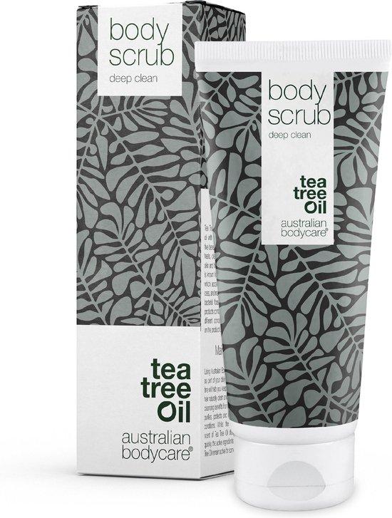 Australian Bodycare Bodyscrub voor Vrouwen & Mannen 200 ml   Tea Tree Olie Bodyscrub Exfoliant   Voetscrub voor de Probleemhuid   Voor Puistjes op Rug & Lichaam   met Australische Tea Tree Olie