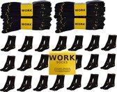 Work Werksokken - 20 paar - Zwart - Maat 43/46