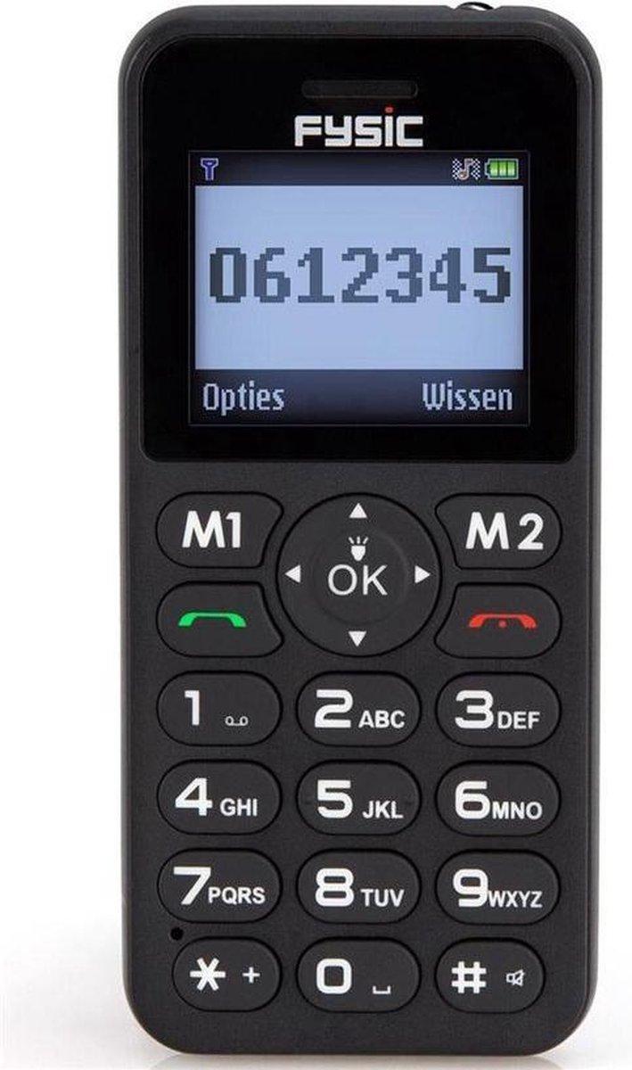 Fysic Mobiele Telefoon GSM voor Senioren Grote Toetsen + Simkaart geleverd