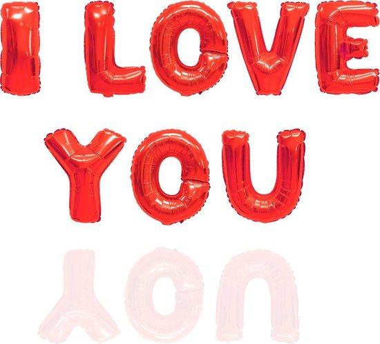 3BMT I Love You ballon letters - liefde - rood