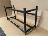 Qrig Mining rig frame XL zwart 6 - 8 cpu