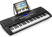 Keyboard - MAX KB1 keyboard piano met o.a. 61 toetsen en trainingsfunctie - Het perfecte keyboard om keyboard te leren spelen - Zwart