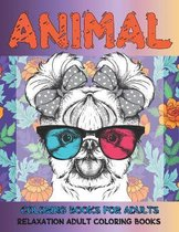 Coloring Books for Adults - Relaxation Adult Coloring Books - Animal