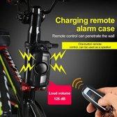 Missan: Fietsalarm Hoog Kwaliteit - Fietsalarm- Anti-diefstal - Alarminstallatie draadloos - Alarm beveiliging - Fietsalarm - Motor alarm - Alarm met afstandsbediening - Zwart