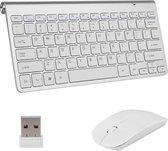 Gologi® - Toetsenbord en muis - Draadloos - USB Connector - Apple - Android - QWERTY Draadloze Toetsenborden - Wireless Keyboard & Mouse - Zilver