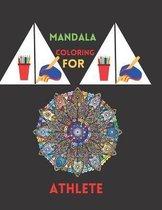 Mandala coloring for Athlete