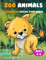 Zoo Animals Coloring Book for Kids Ages 4-8