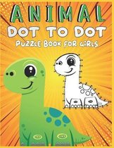 Animal Dot To Dot Puzzle Book For Girls