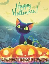 Happy Halloween Coloring Book For Kids