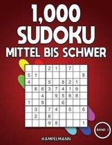 1,000 Sudoku Mittel bis Schwer