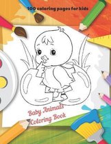 Baby Animals - Coloring Book - 100 coloring pages for kids