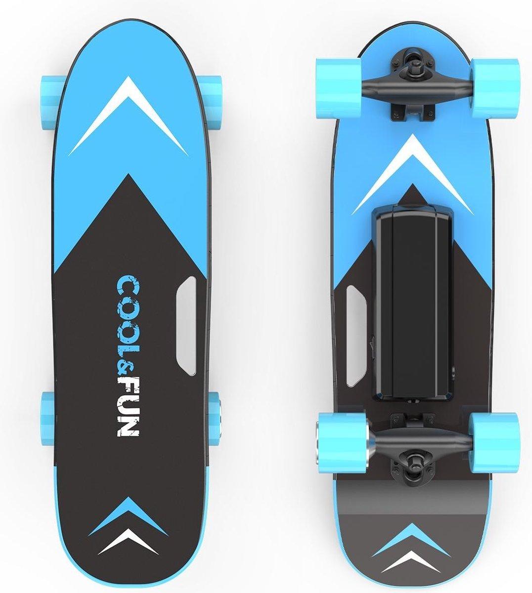 Elektrisch Skateboard met afstandsbediening - 150W - 12-15 km/u - Blauw