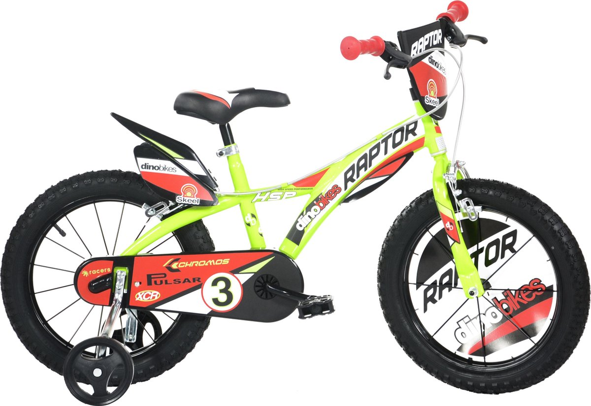 Dino Bikes Kinderfiets Raptor fluor geel: 14 inch online kopen