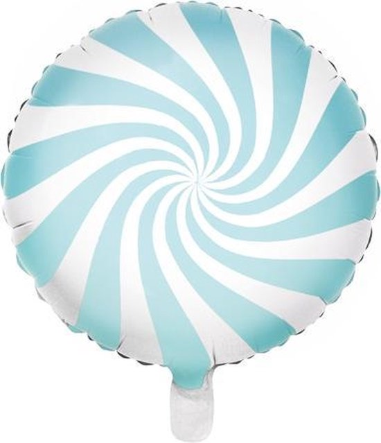 Partydeco Folieballon snoepje mint 35cm