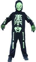 Zwart en groen skelet kostuum voor kinderen - Kinderkostuums