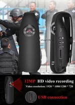 Centechia BodyCam HD 1080P Mini Camcorder Dash Mini Camera Politie Body Motorcycle Bike Motion Camera Us Plug Ondersteuning Bewegingsdetectie 130 graden