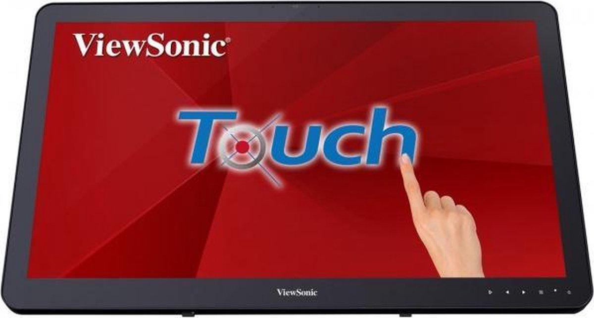 Viewsonic TD2430 touch screen-monitor 59,9 cm (23.6) 1920 x 1080 Pixels Multi-touch Multi-gebruiker Zwart