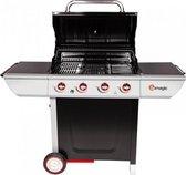 Cooking Deals - SOMAGIC Manhattan 400GP - Gas BBQ Barbecue - 4 branders - 2 roosters - 1 bakplaat