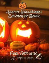 Happy Halloween Coloring Book For Toddler
