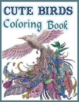 Cute Birds Coloring Book