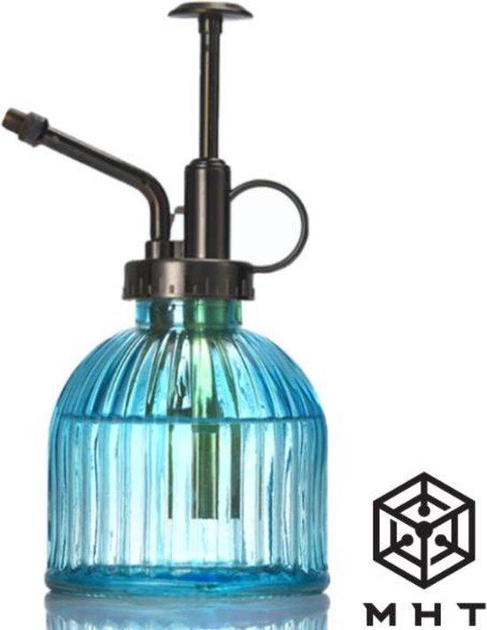 Plantenspuit - Blauw - Glas -- Vintage - Spray - 6 Kleuren - Water Verstuiver