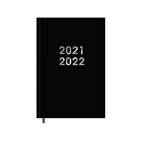 Afbeelding van Hobbit schoolagenda 2021-2022 - BASIC ZWART - gebonden -  leeslintje - 7 dagen over 2 paginas - harde kaft - 144 paginas - zwart - ongeveer A5 formaat