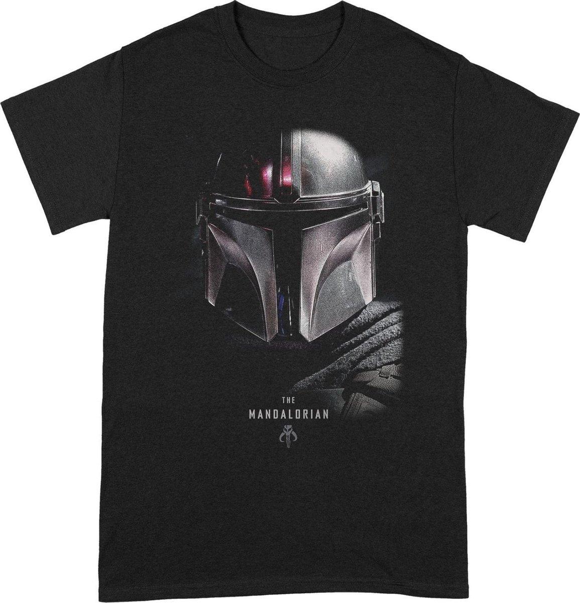 Star Wars - The Mandalorian Poster T-Shirt Zwart