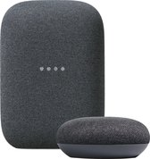 Google Nest Audio + Nest Mini bundel - Charcoal