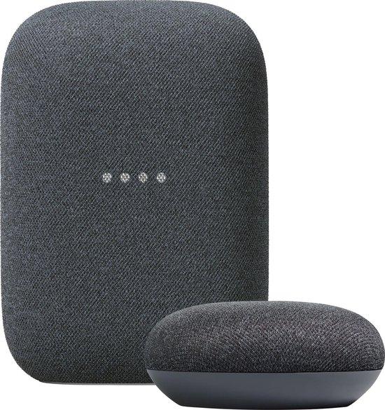 Google Nest Audio + Nest Mini bundel - Charcoal