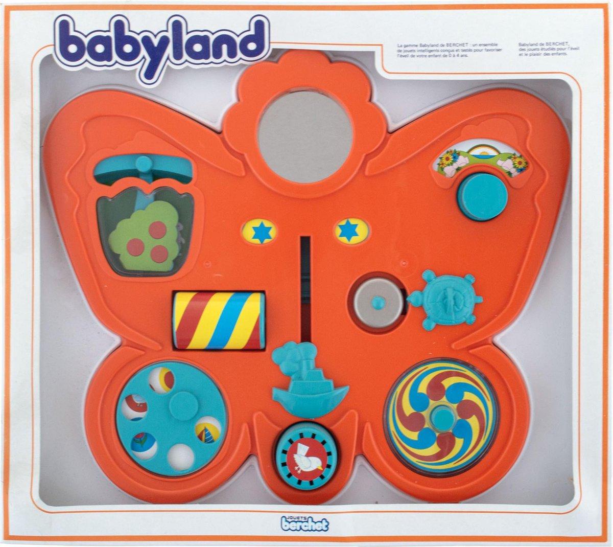 Educatief baby speelgoed - Babyland vlinder met 12 leuke ontdekkingen voor de baby - 40 x 35 x 4 cm