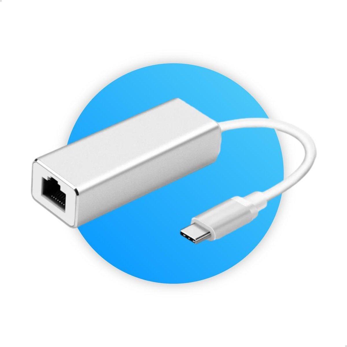 USB-C naar Ethernet   Internet LAN Netwerk Adapter