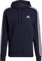 Adidas Essentials 3-Stripes Fleece Trui Blauw Heren