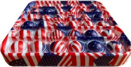 Pop it Vierkant - Fidget Toy - Amerikaanse vlag - Fidget Toys