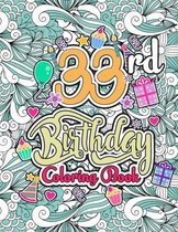33rd Birthday Coloring Book