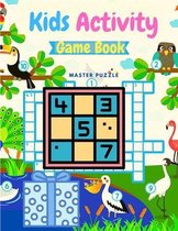 Kids Activity Game Book - Fun and Educational Brain Games, Activity Book Included Sudoku, Dots and Boxes, Hangman and Tic Tac Toe!
