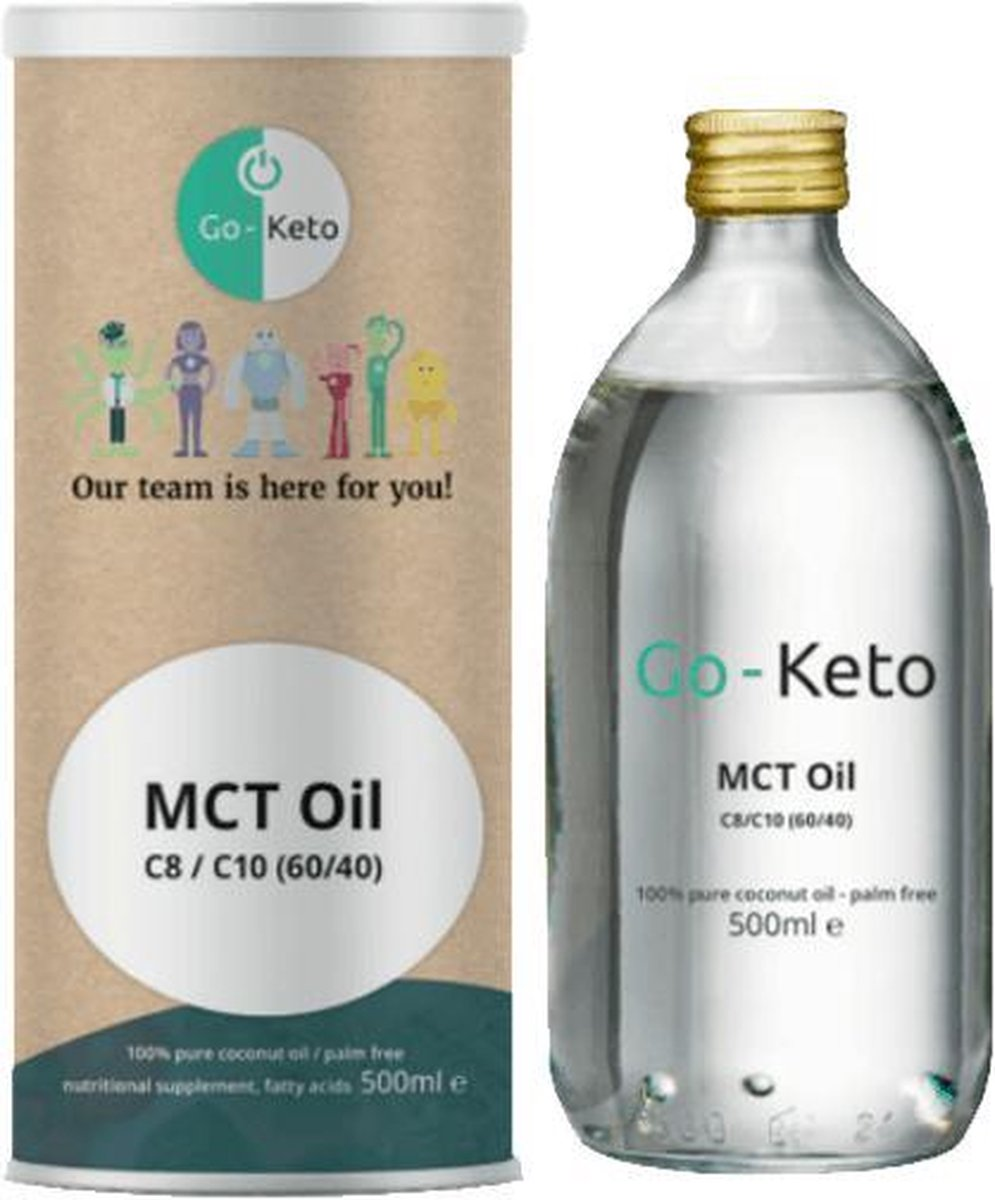 Go-Keto MCT olie premium blend 60 C8/40 C10