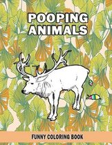 Pooping Animals: Funny Coloring Book
