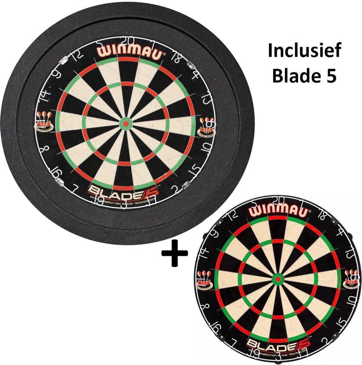 Dragon Darts - TCB X-Ray 3.0 Luxe - dartbord verlichting - surround - inclusief Winmau Blade 5 - dartbord - zwart