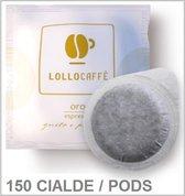 "Lollo Caffè ""Oro"" 90 % Arabica - ESE Koffiepads - 150 stuks - Napolitaanse gebrande koffie"