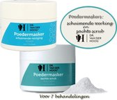 Dr. Van der Hoog Poedermaskers: 1x  schuim reiniger 70g en 1x zachte scrub 70g - Wit