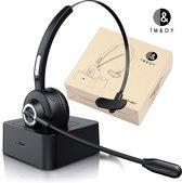 Headset met Microfoon - Koptelefoon - Bluetooth 5.0 - Headset - Koptelefoon met Microfoon - Headset Stand - Microfoon - Draadloze Koptelefoon - met Laadstation - Laptop - Telefoon - Gaming - PC - Koptelefoon Bluetooth
